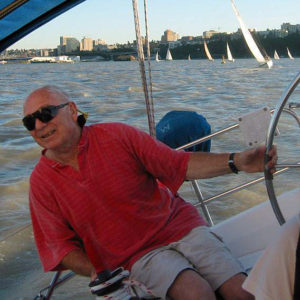 image of Neil Delisanti on boat
