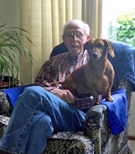 image of Paul Haugland and his dog